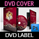 Wedding DVD Cover and DVD Label Template Vol.9