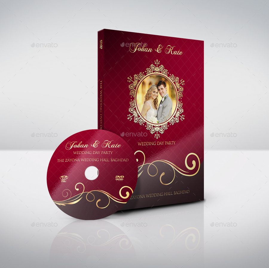 Wedding DVD Cover and DVD Label Template Vol.9 by OWPictures ...