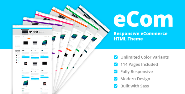 eCom – Material Design Multipurpose eCommerce HTML Template