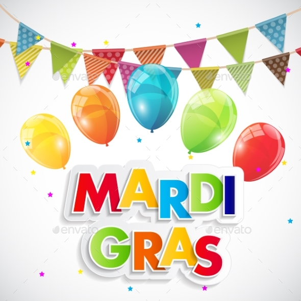 Mardi Gras Party Holiday Poster Background - Backgrounds Decorative