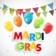 Mardi Gras Party Holiday Poster Background - GraphicRiver Item for Sale