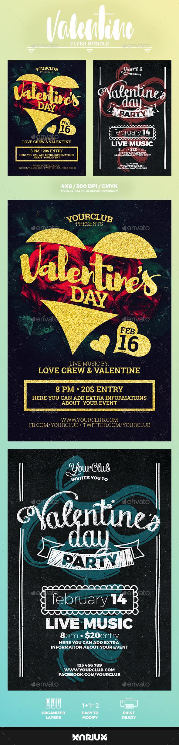 Valentine Flyer Bundle - Events Flyers