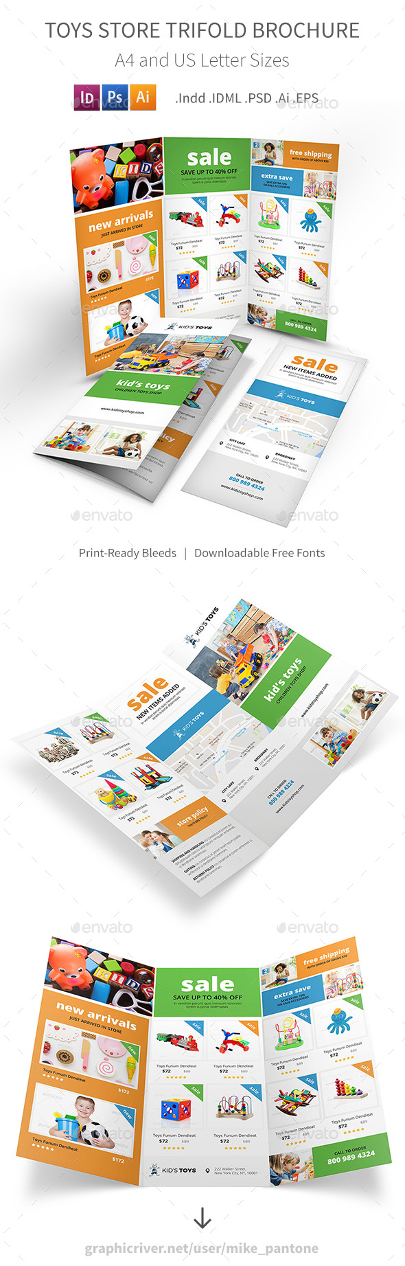 Toys Store Trifold Brochure - Informational Brochures