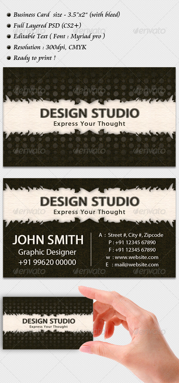 Design Studio Business Card - Creative Business Cards