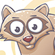 Drawn Cartoon Raccoon - GraphicRiver Item for Sale