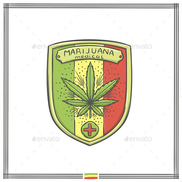 Medical Marijuana Logo Five - Health/Medicine Conceptual
