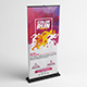 Color Run Festival Roll-Up Banner