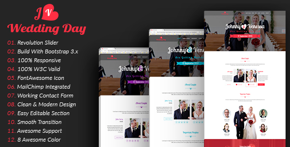 Wedding | HTML5 Responsive Wedding Template