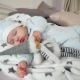 Cute Little Boy Sleeping Sweetly, Baby Sleeping Peacefully, the Child Looks Dreams in a Cozy Nulled