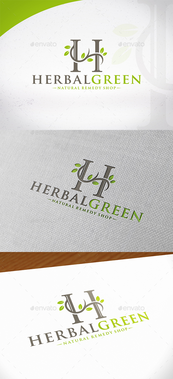 Herbal letter h logo template by bosstwinsmusic graphicriver herbal letter h logo template nature logo templates spiritdancerdesigns Image collections