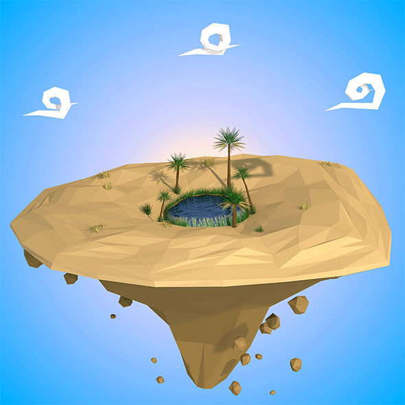 Floating island - 3DOcean Item for Sale