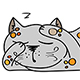 Set of Sleeping Cat - GraphicRiver Item for Sale