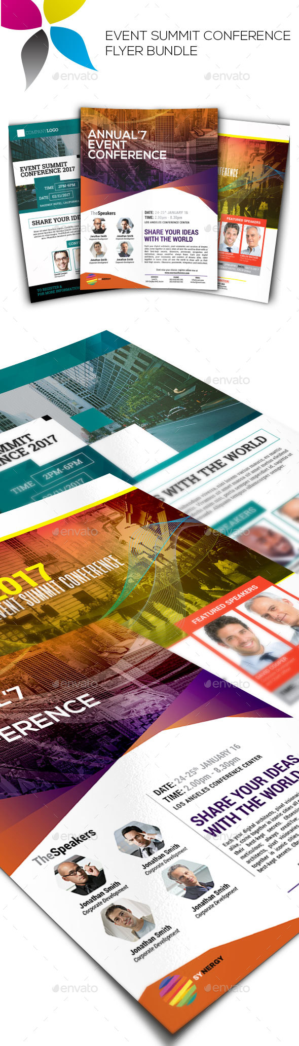 Event Summit Conference Flyer Bundle Vol.1 - Corporate Flyers
