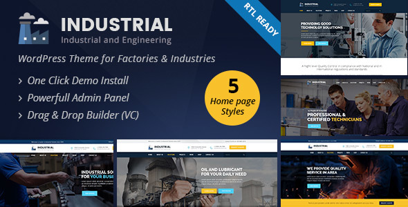20+ Best Industrial & Manufacturing WordPress Themes 2019 1