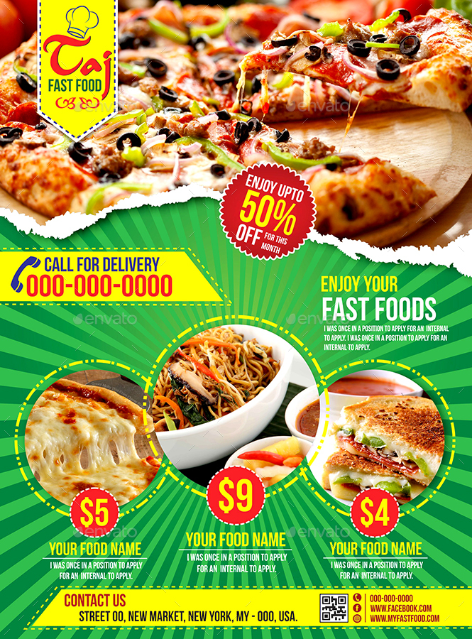 Fast Food Flyer by apscreative | GraphicRiver