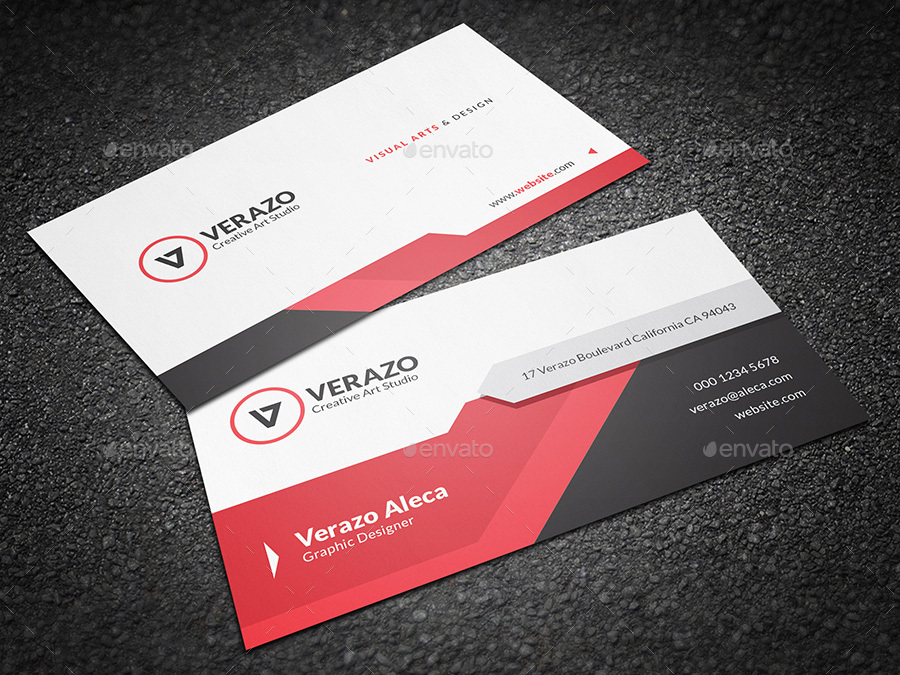 Clean & Modern Corporate Business Card Template by verazo ...
