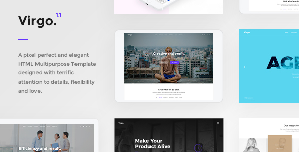 Virgo. - Multipurpose HTML Template
