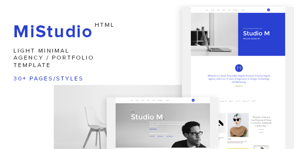 MiStudio – Light Minimal Agency/Portfolio Template