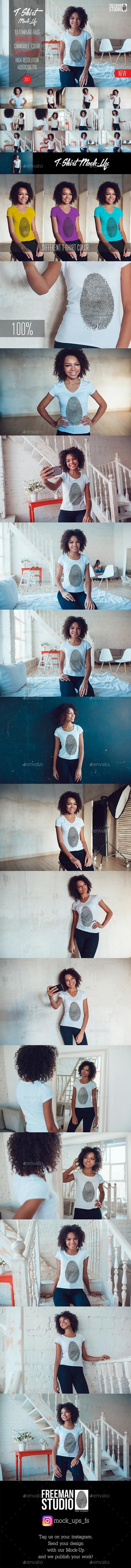 T-Shirt Mock-Up Vol.1 2017