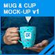 Mug & Cup Mock-up v1 - GraphicRiver Item for Sale