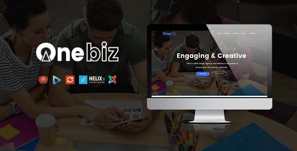 Onebiz – Responsive Multipurpose Joomla Template