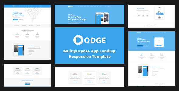 DODGE – Multipurpose App Landing Page Template