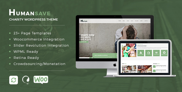 ThemeForest Humansave Responsive Nonprofit Charity WordPress Theme 19350481