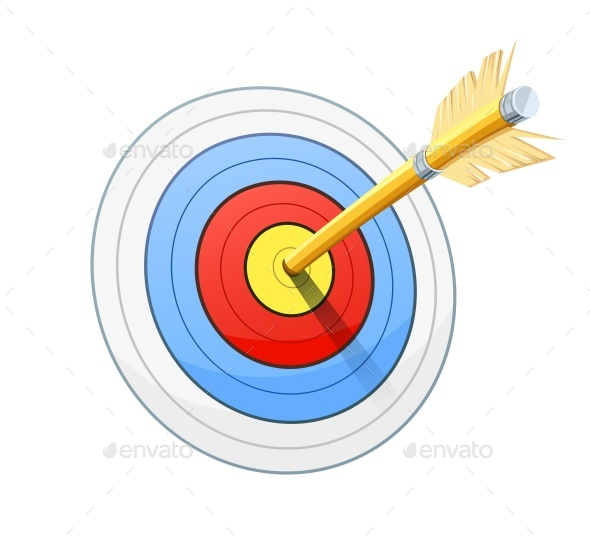 Arrow and Target for Bow Shooting - Man-made Objects Objects