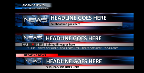 News Lower Thirds by 333PixLite | VideoHive