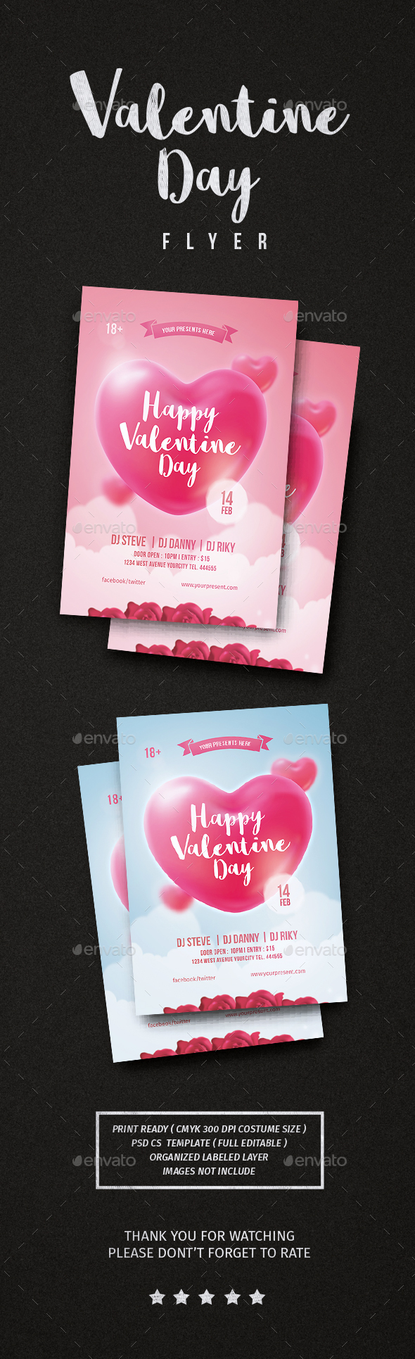 Valentine day Flyer - Flyers Print Templates
