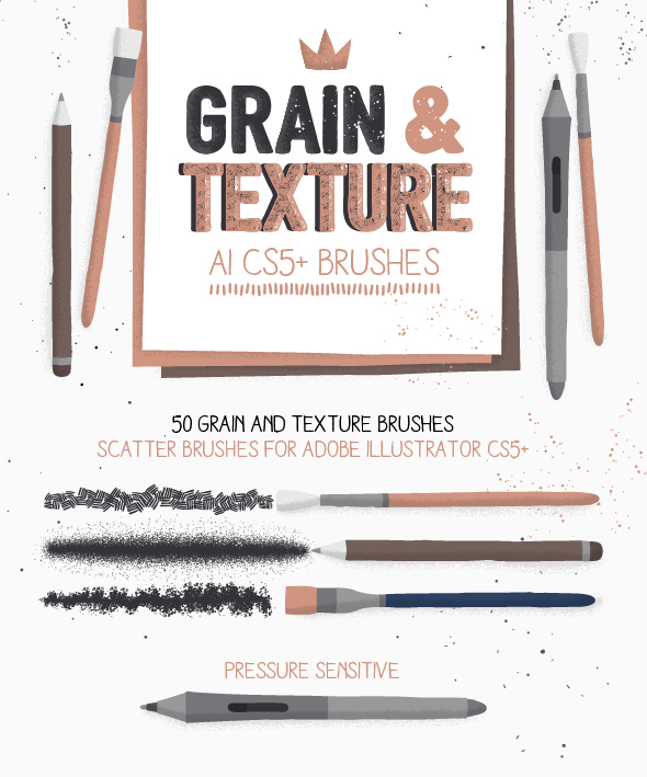Grain And Texture Ai Brushes By Sideproject Graphicriver