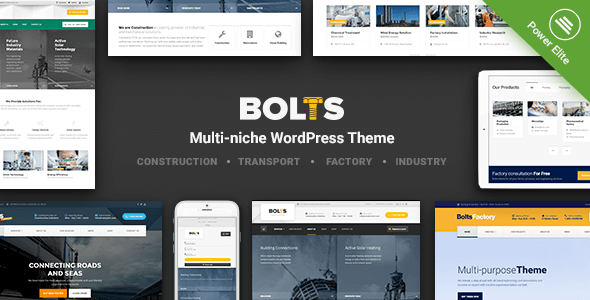Bolts – WordPress Theme for Construction, Transport and similar Business