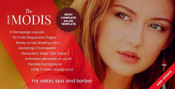 Modis - Salon, Spa & Barber Website Template