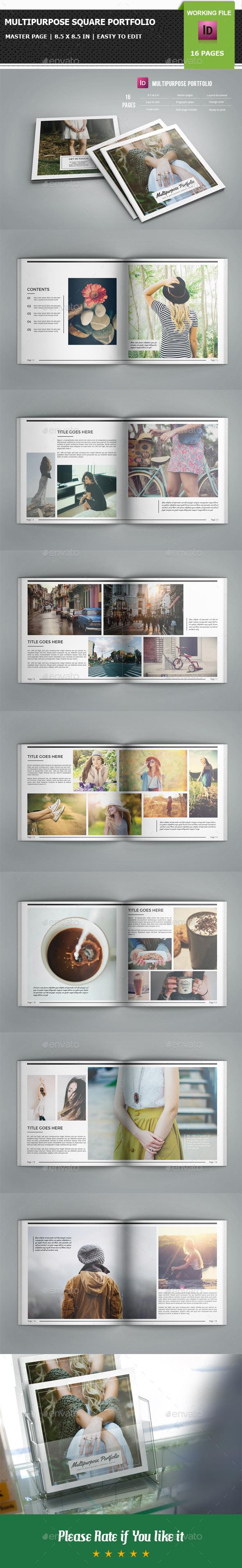 Multipurpose Square Portfolio / Brochure Template-V01 - Portfolio Brochures