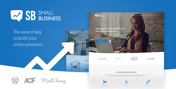 Small Business CD - Modern Blog & Website WordPress Theme for Start Up ideas - Business Corporate