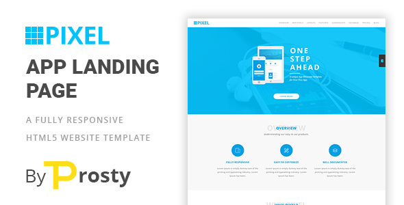 PIXEL - HTML5 App Langing Page - Landing Pages Marketing