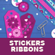 Valentine Gift Tags, Stickers, Tapes - GraphicRiver Item for Sale
