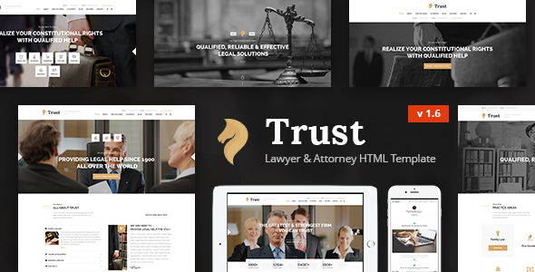 Trust - Lawyer & Attorney Business HTML Template - Business Corporate