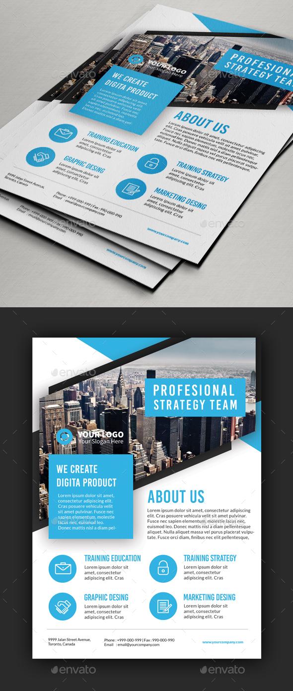 Multipurpose Blue Theme Flyer - Corporate Flyers