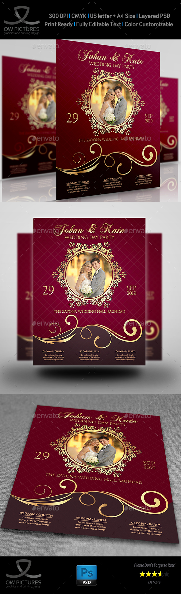 Wedding Party Flyer Template Vol.4 - Events Flyers
