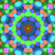 Colorful Hexagons Flower Loop - VideoHive Item for Sale
