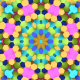 Colorful Hexagons Flower Vj Loop - VideoHive Item for Sale