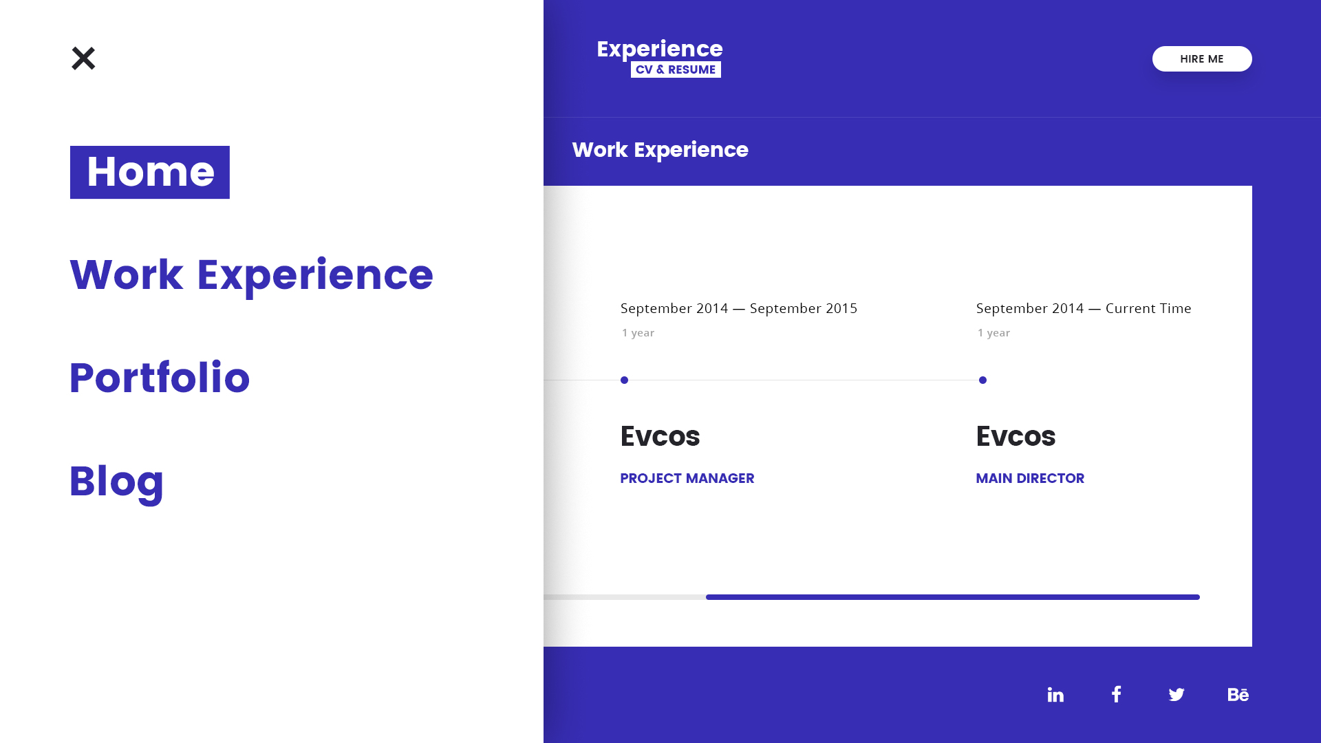 Experience CV Resume PSD Template by Stockware