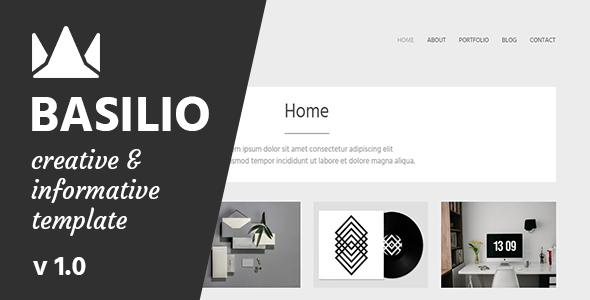 Basilio – Creative Portfolio Template
