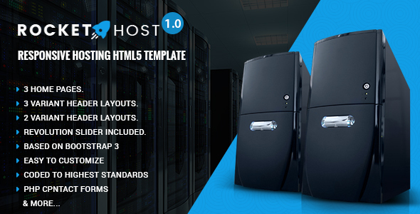 Rocket Host - Responsive Web Hosting HTML Template