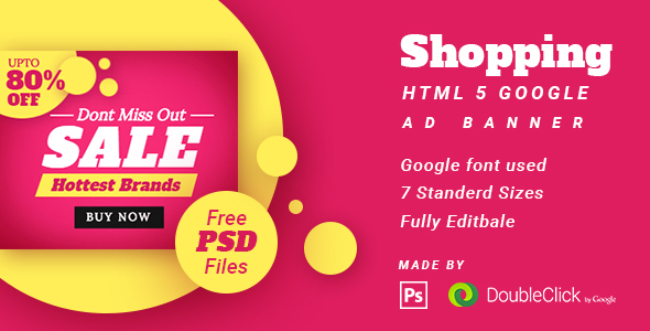 Shopping - HTML5 Animated Banner 14 - CodeCanyon Item for Sale