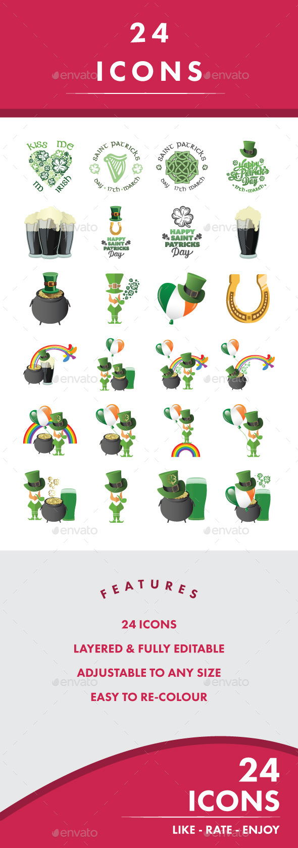 St. Patrick's Day - Icons