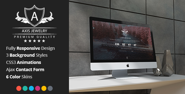 Axis - Responsive Coming Soon Template - Under Construction Specialty Pages