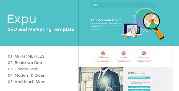 Expu – Marketing & SEO Services Template