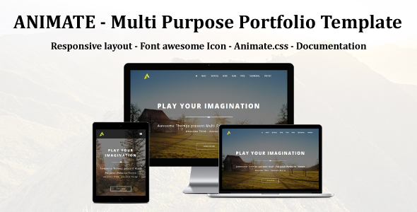 ANIMATE – Multi Purpose portfolio Muse Template